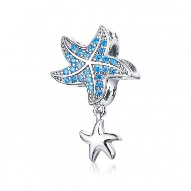 Playful Starfish - Talisman argint