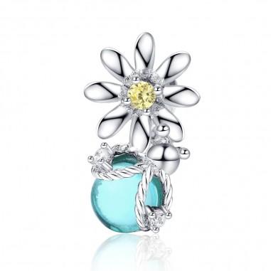 Fireflies and Daisy - Talisman argint