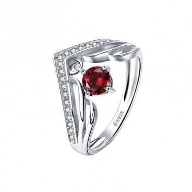 Royal Red - Inel argint