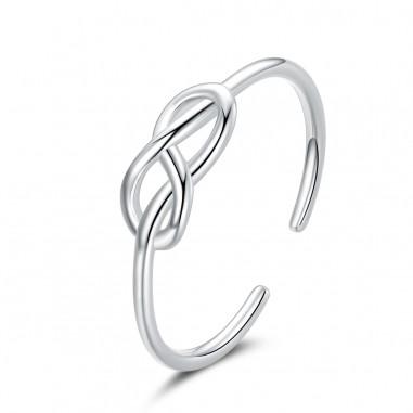 Infinity Symbol - Inel argint reglabil