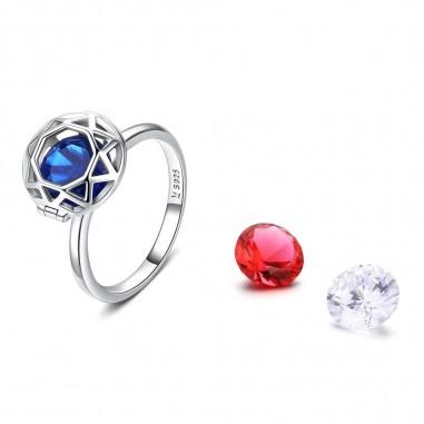 Witness of Love - Inel argint cu 3 cristale