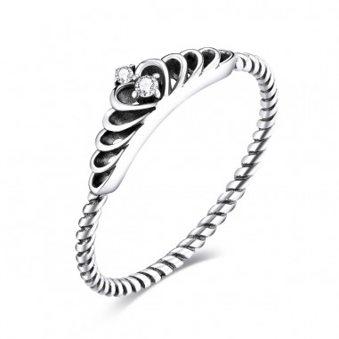 Dazzling Crown - Inel argint