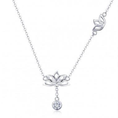 Lotus Flower - Colier argint