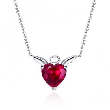 Red Angel - Colier argint