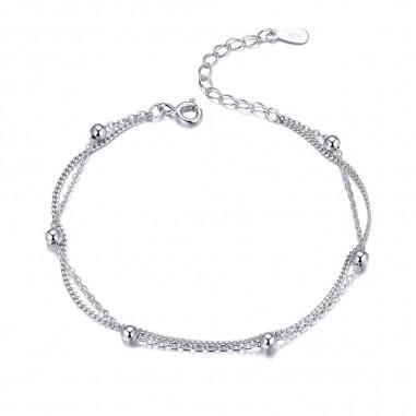 Little Beads - Bratara argint