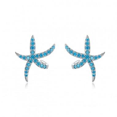 Starfish - Cercei argint