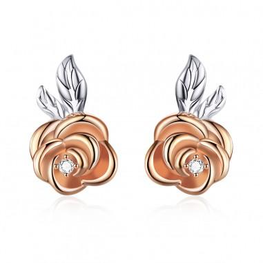 Elegant Rose - Cercei argint