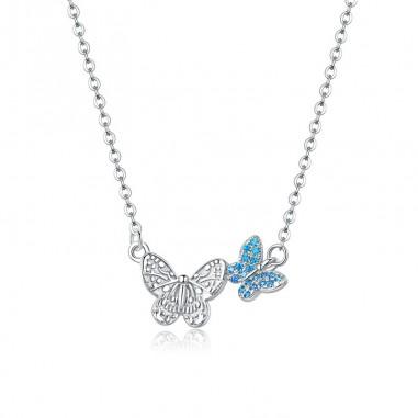Flying Butterfly - Colier argint
