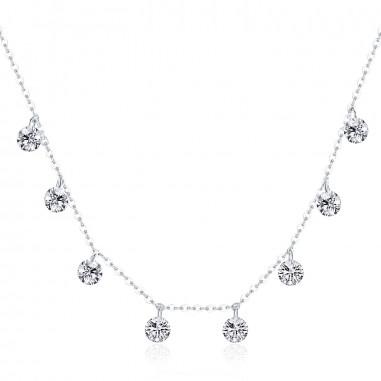 Dazzling Stones - Colier argint
