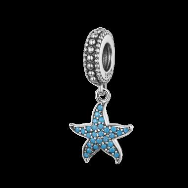 Blue Starfish - Talisman argint