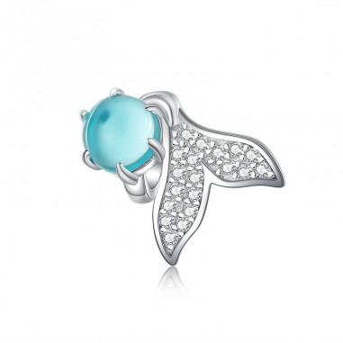 Mermaid Tail - Talisman argint