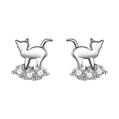 Kitty in the Clouds - Cercei argint