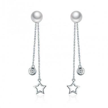 Twinkle Star - Cercei argint