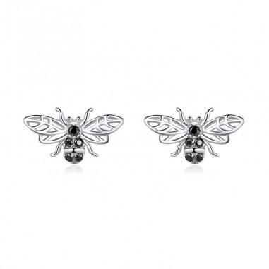 Black Bees - Cercei argint