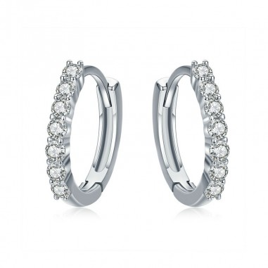 Dazzling Circle - Cercei argint