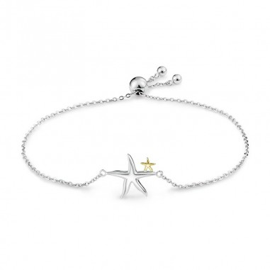 Silver Starfish - Bratara argint