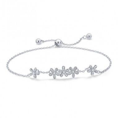 Shiny Daisy - Bratara argint