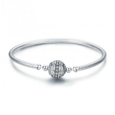 Dazzling Ball - Bratara talismane argint