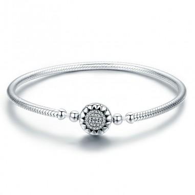 Bright heart - Bratara talismane argint