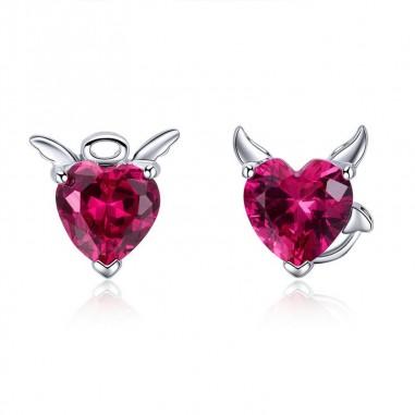 Angel and Devil - Cercei argint