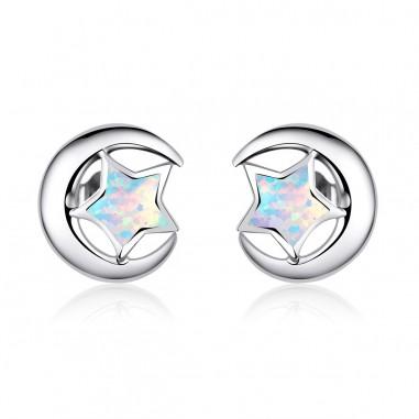 Moon and Star - Cercei argint