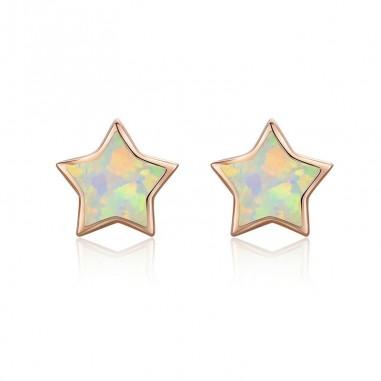Opal Star - Cercei argint rose gold