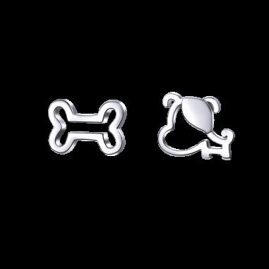 Dog and Bone - Cercei argint
