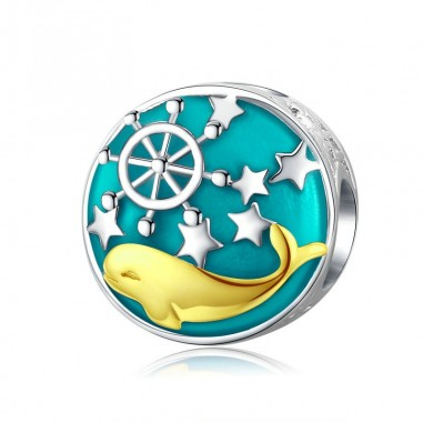 Gold Whale - Talisman argint