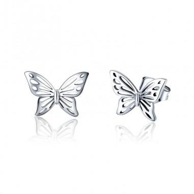 Shiny Butterfly - Cercei argint
