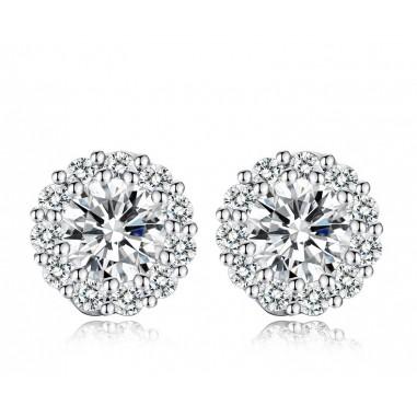 Shiny and Elegant - Cercei placati cu argint