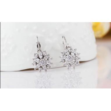 Luxury Flower - Cercei placati cu argint