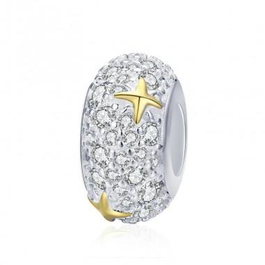 Dazzling Gold Stars - Distantier argint