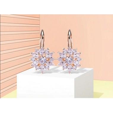 Luxury Flower - Cercei placati rose gold
