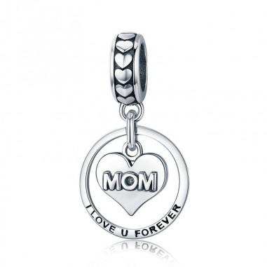 Mom I Love You Forever - Talisman argint