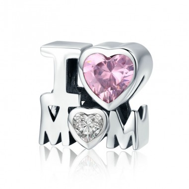 I Love Mom - Talisman argint
