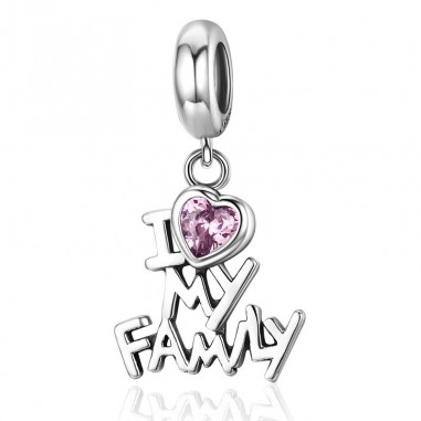 I Love my Family - Talisman argint