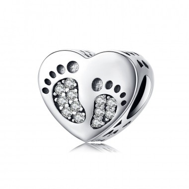 Baby Footprints - Talisman argint