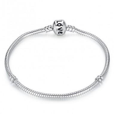 Simple Love - Bratara talismane placata cu argint