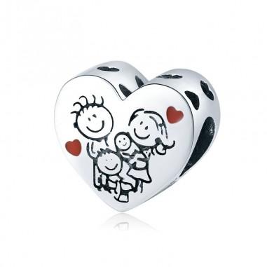 Family Heart - Talisman argint