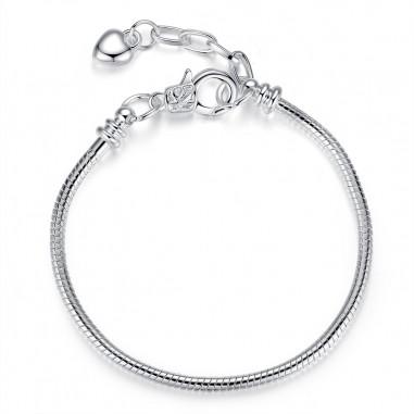 Heart Chain - Bratara placata cu argint
