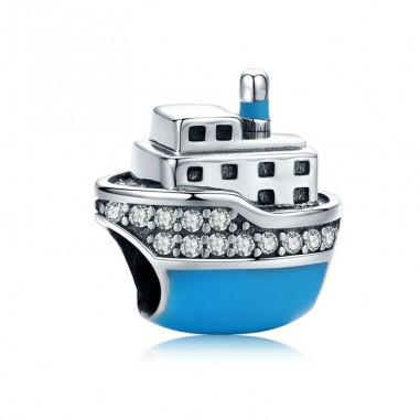 Blue Boat - Talisman argint