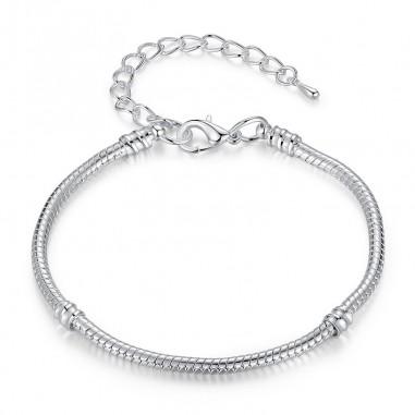 Simple Chain - Bratara placata cu argint