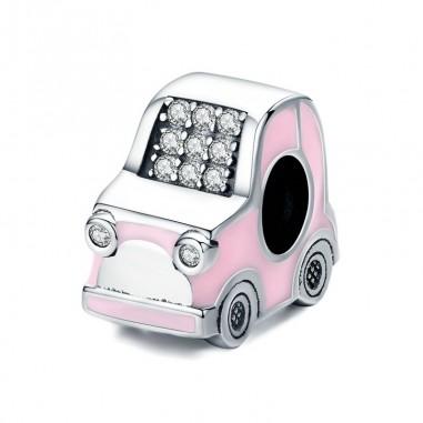 Pink Car - Talisman argint