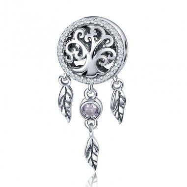 Dream Catcher Family Tree - Talisman argint